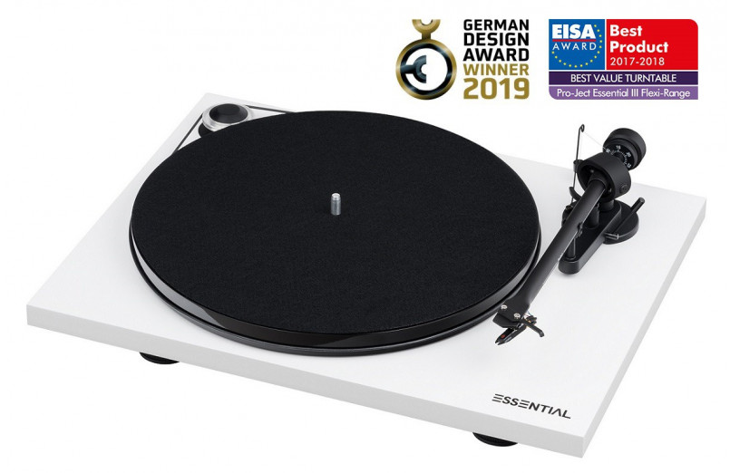 TURNTABLE WITH PRO-JECT ESSENTIAL III...